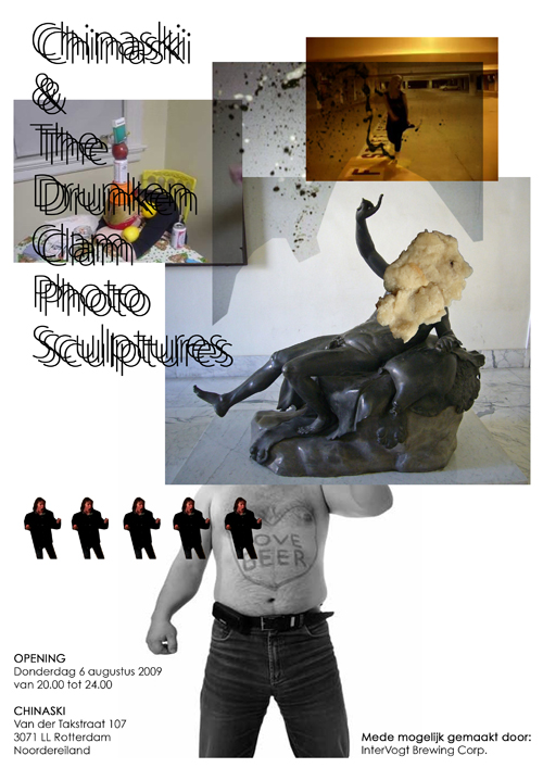 Chinaski & The Drunken Clam Photo Sculptures Flyer